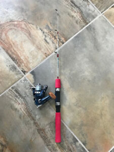 Ice fishing reel and rod combo, brand new