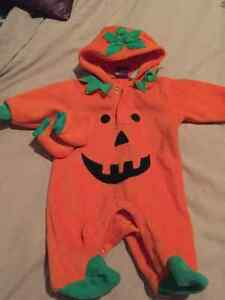 Pumpkin Halloween costume 0-3 months