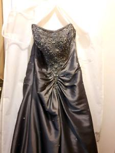 Xs-M sized Silver Prom Dress