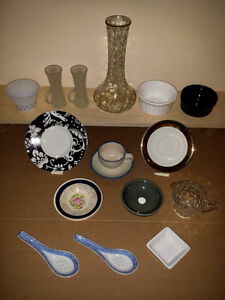 Assorted kitchen items : Japanes Spoons,DemiCup/Saucer MORE