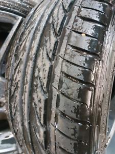 Enkei rims with low profile tires