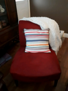 $80 OBO Accent chair and other red decor items