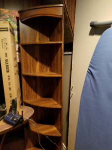 Solid Wood Corner Shelve Unit - $15 (Coquitlam)
