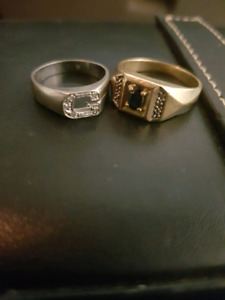 Two stamped rings