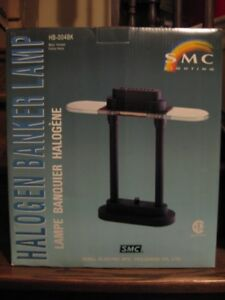 Excellent Condition Dimmable Halogen Banker Lamp