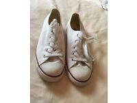 White All Star Converse Trainers.