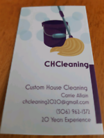 CHCleaning (Custom House Cleaning)
