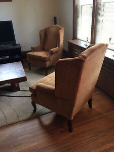 Queen Anne Style Wing Back Chairs