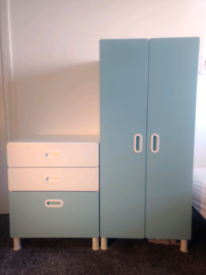 Ikea Stuva Fritids Kids Wardrobe and Chest of Drawers