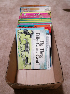 box of  50 -33 1\3 (small( vintage kids record and record books