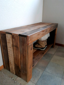 Rustic Shoe storage bench