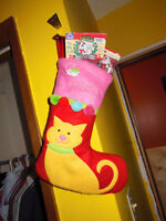 Christmas Cat Stocking Stuffed with Goodies!