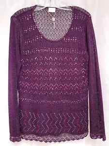 NEW Dressy sequinned knit sweater