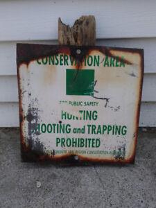 Old conservation sign