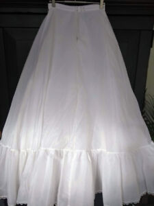 Peticoat skirt tulle nylon for wedding dress made in USA Size:S