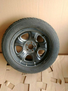 """18"""" Dodge Charger Police Wheels/Firestone Winterforce Tires"""