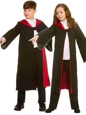 Child Deluxe Magic Wizard Robe Girls Boys Harry Fancy Dress Kids Druid Halloween (Druid Halloween Costume)