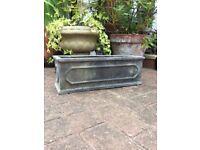 Slate looking garden planter