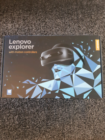new Lenovo explorer mixed reality headset and motion controllers