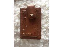 Radley brown leather iPhone 4 case
