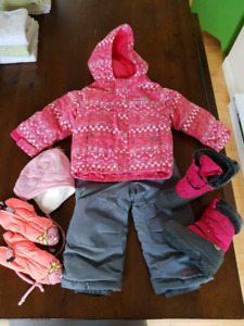 Kit d'hiver Columbia pour fille taille 2t