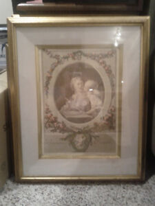 Lady , and the other lady and child. Antique pictures. OBO