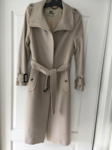 Burberry Cashmere and Wool Trench Coat, Medium