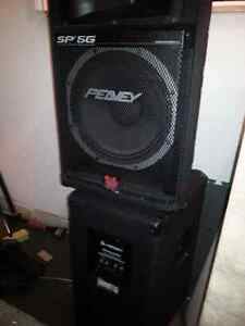 Peavey SP5G PA speakers for sale