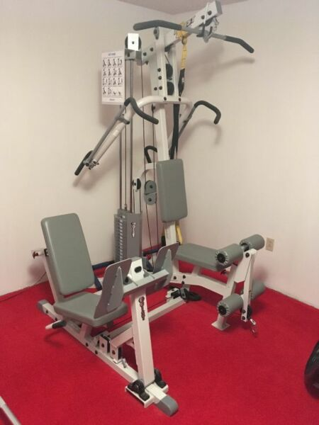 Hoist h home gym with leg press exercise equipment