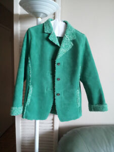 suede leather  (chamois)  jacket, woman jackets.