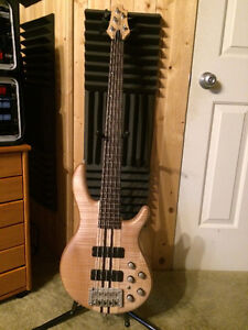 Cort A5 Bass - 5 String Neck Through - with Hard Shell Case