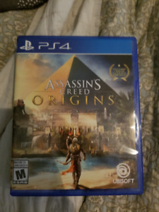 Assassins Creed Origins and Battlefield 1 ps4