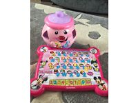 Fisher price cookie jar and Minnie Mouse board