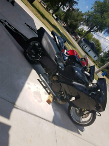 Murray sidewinder exhaust with MPS oil relocator for hayabusa