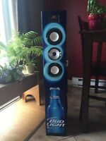 Bluetooth bud light speaker tower