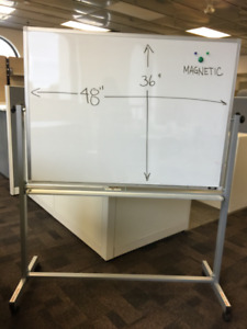 "Magnetic Whiteboard Mobile - Double Sided Reversible - 48"" x 36"""