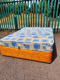 Double bed with mattress (delivery available