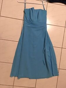 Size 12 blue strapless bridesmaids or formal dress