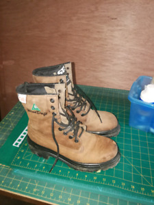 Work boots.  Size unknown. Maybe 7 or 8