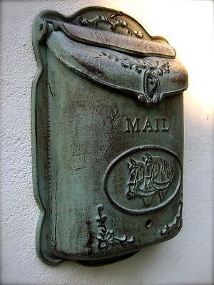 Briefkasten wunderschönes Modell, Postkasten Landhausstil -Wandbriefkasten Pferd