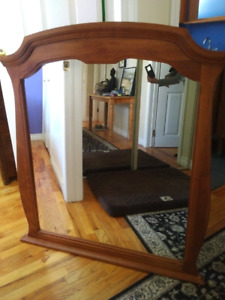 Large Mirror in solid wood frame.