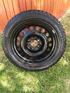 Hankook winter tires ON RIMS.
