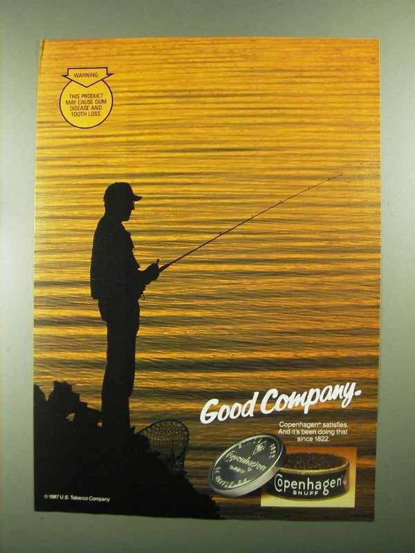 1987 Copenhagen Tobacco Ad - Good Company
