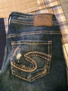 Silver boyfriend jeans. 60.00 OBO