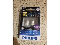 Philips led x threme vision t10 light bulbs