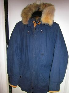 AUTHENTIC NAUTICA NAVY BLUE MENS DOWN WINTER PARKA