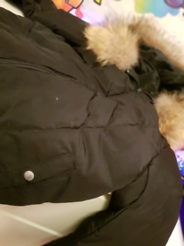 Moncler coat with real raccoon fur