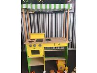 Wooden toy food stall