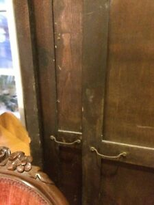Antique large wood cupboards came out of school.  wardrobe SALE  London Ontario image 3