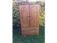 Good solid pine kids wardrobe with 2 large drawers